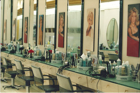 Espace coiffure du deuxième salon MP 1992