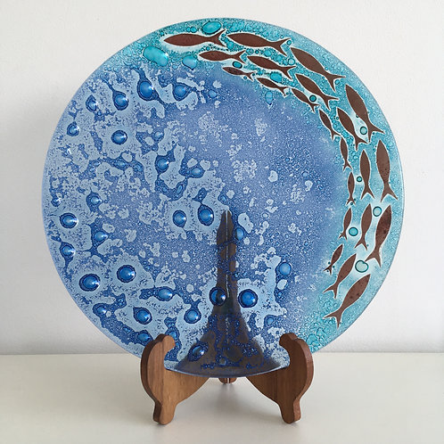 Jo Downs 'Shoal of Fish' Dish 37cm