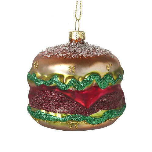 'Burger' Glass Tree Decoration