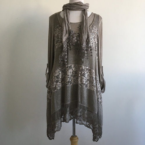 Tunic/Dress with Scarf 5815B