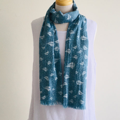 Cotton Scarf - Yachts