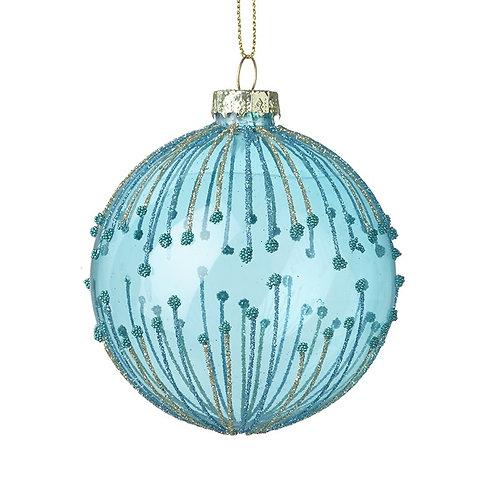 Pale Blue Glass Ball Tree Decoration