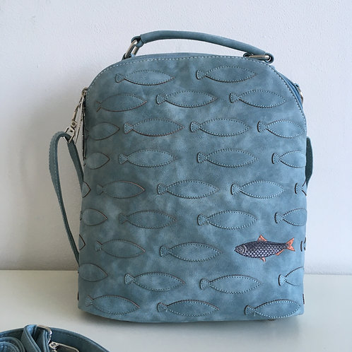 Mermaid Range 'Oceane' Bag in light blue.