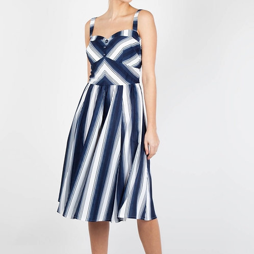 Nautical Stripe Dress 8517