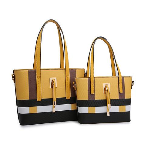 Mustard Geo Pattern Bag (M or L)