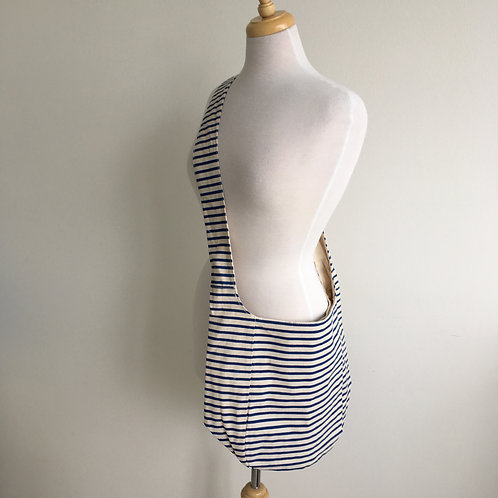 'Inis' Blue Striped Cotton Bag