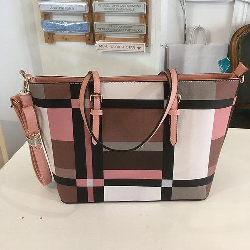 Pink Geo Pattern Bag