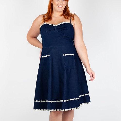 Denim Flared Dress 8455