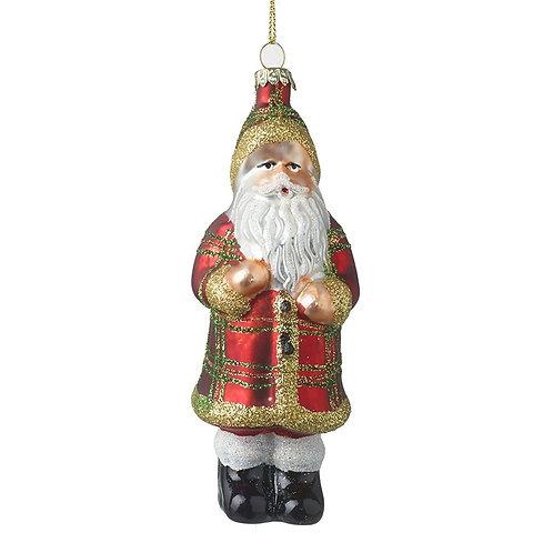 Glass Santa Tree Decoration