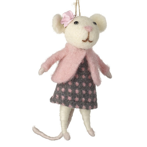 Lady Mouse hanging Decoration.
