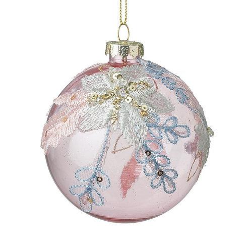 Pink Glass Ball Tree Decoration