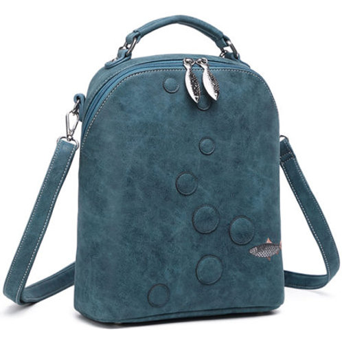 Mermaid Range 'Oceane' Bag in petrol blue.