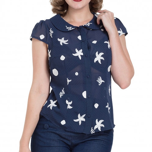 Embroidered 'Starfish' top