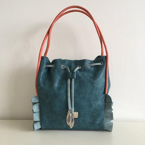 Mermaid Range 'Cascade' Bag in petrol blue