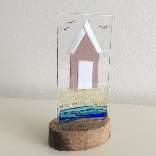 Fused Glass Panel - Beach Hut (single)