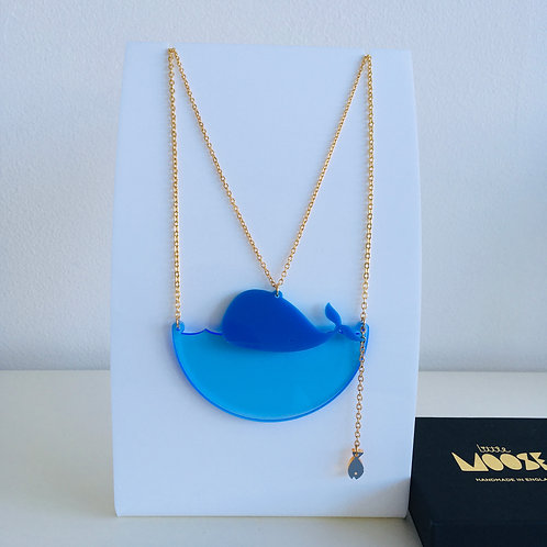 Acrylic 'Whale' Necklace