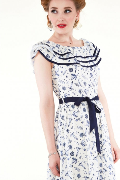 Nautical Print Dress 8148