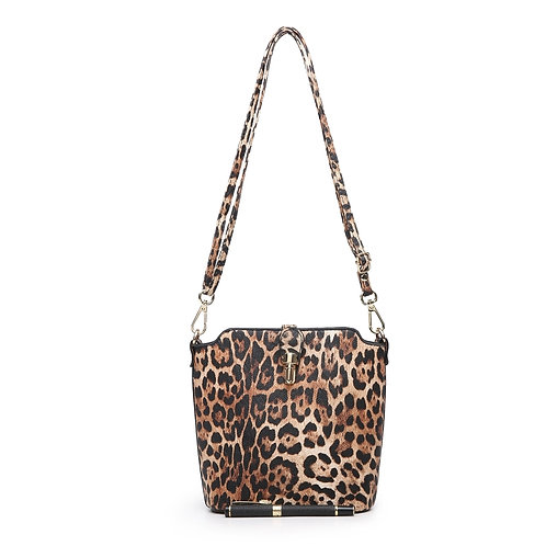 Leopard Pattern Cross-Body Bag