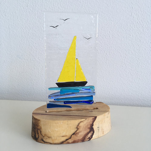 Fused Glass Panel - Yacht (single)
