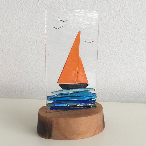 Fused Glass Panel - Yacht (single)