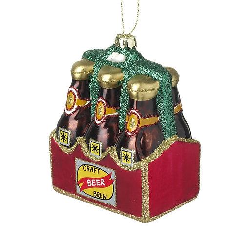 Glass Craft Beer Tree Decoration