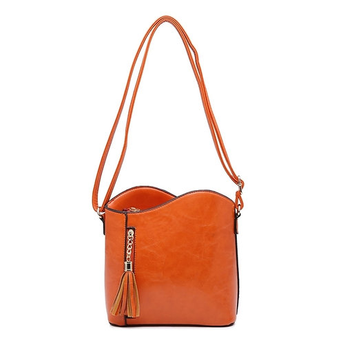 Leather Look Cross-Body Bag