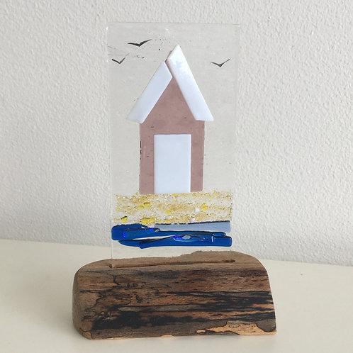 Fused Glass Panel - Beach Hut (single)