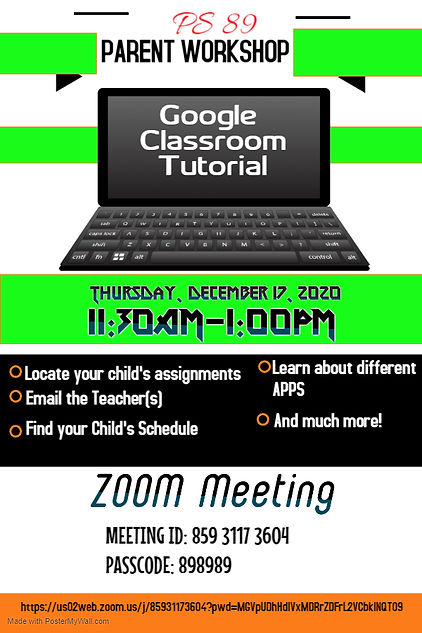 Google Classroom Tutorial flyer