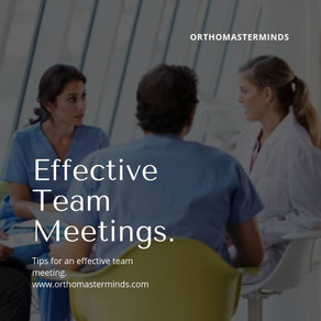 Holding an effective and motivating team meeting is essential to the health of your practice.