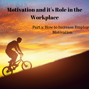 Motivation and it's Role in the Workplace: Part #3