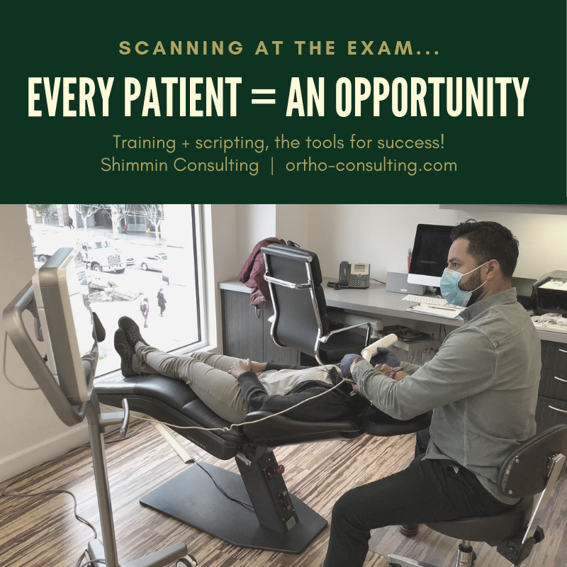 Scan new patient orthodontics