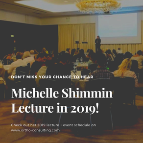 Where You Can Hear Michelle Shimmin Lecture in 2019