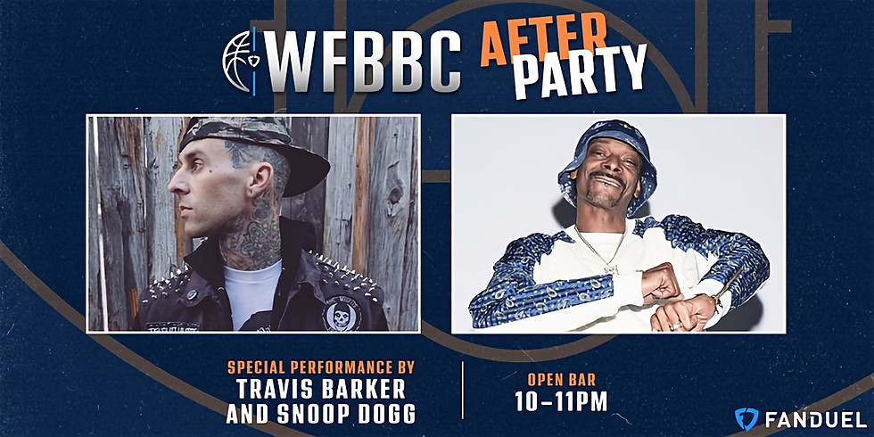 Snoop Dogg + Travis Barker @ the FanDuel WFBBC After Party