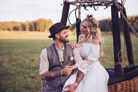 Hochzeit im Heißluftballon