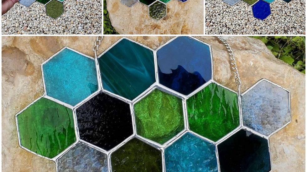 Honeycomb blue/green