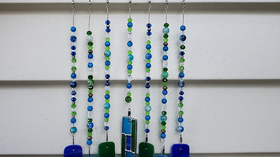 Blue/Green Patchwork chimes