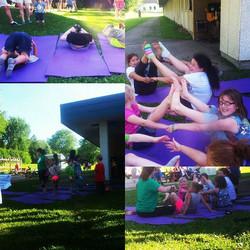 Zen Turtle kid's yoga at Winnequah Elementary!