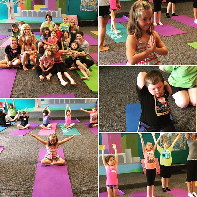 Beautiful little yogis and yoginis at #Gigi'sPlayhouse
