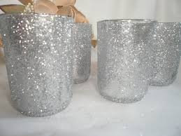 12 Pack of Silver Glitter votives