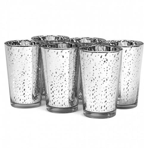 12 pack Tall Silver Mercury Votives