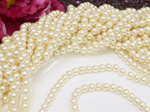 36 feet of strung pearls