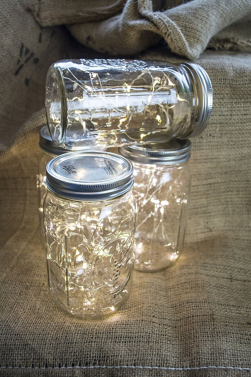 24 Mason Jar fairy lights
