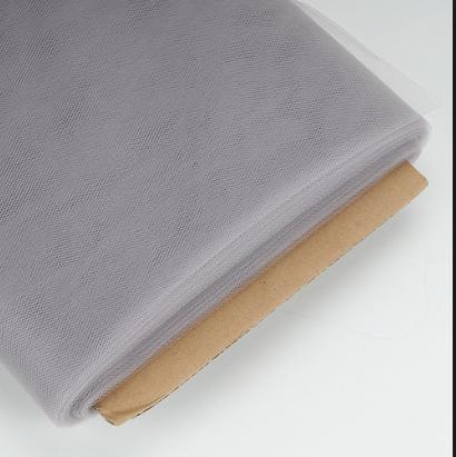 Silver Tulle Premium Fabric