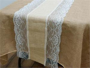 Burlap Patterned Table Runners