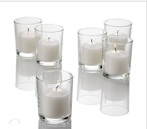 Candles Votives and Holders Set of 72