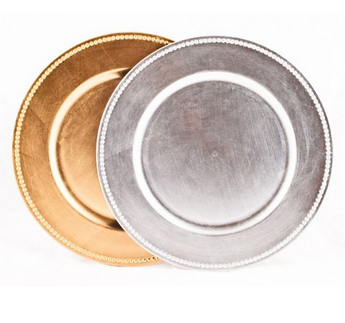 Charger Plates 4 pack wedding decorations