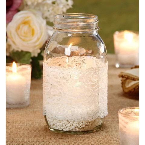 12 pack of lace mason jars