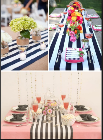 Satin Striped Table Runners