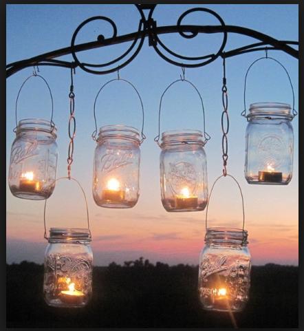 12 Mason Jars with Handles