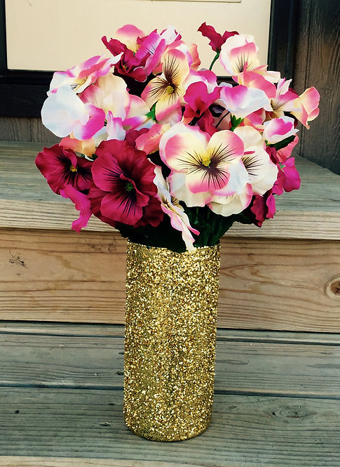 12 pack of glitter vases
